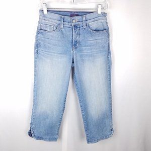 "NYDJ ""ARIEL CROP"" medium wash jeans size 0"